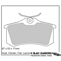 Black Diamond Predator Brake Pads Seat Toledo Rear Set