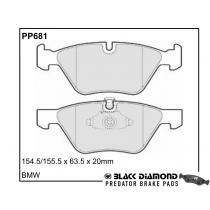 Black Diamond Predator Brake Pads BMW 3 Series Front Set