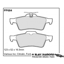 Black Diamond Predator Brake Pads Ford Kuga Rear Set