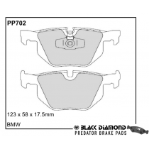 Black Diamond Brake Pads Rear (Pair) for BMW 3 Series