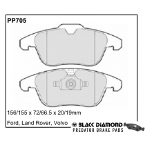 Black Diamond Predator Brake Pads Land Rover Range Rover Evoque Front Set