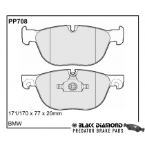 Black Diamond Predator Brake Pads BMW X5 Front  Set