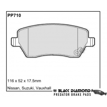 Black Diamond Predator Brake Pads Suzuki Swift Front Pair