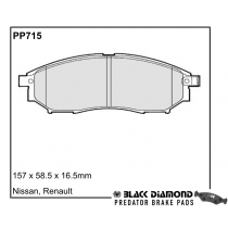 Black Diamond Predator Brake Pads Nissan Qashqai07 Front Set