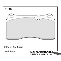 Black Diamond Predator Brake Pads Land Rover Range Rover Sport Front Set