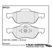 Black Diamond Predator Brake Pads Renault Megane Front Set