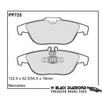 Black Diamond Predator Brake Pads Mercedes-Benz C-Class Rear Set