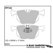 Black Diamond Predator Brake Pads BMW 5 Series Rear Set