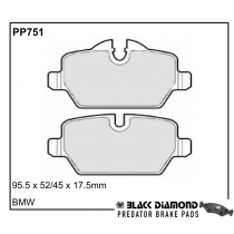 Black Diamond Predator Brake Pads BMW 1 3 Rear Set