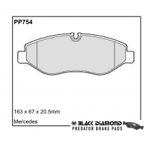 Black Diamond Predator Brake Pads Mercedes-Benz Sprinter VW Crafter 30-35 30-50 Front Set
