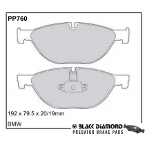 Black Diamond Predator Brake Pads BMW 5 Series Front Set