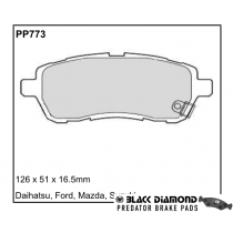 Black Diamond Predator Brake Pads Ford Fiesta Suzuki Swift Front Set
