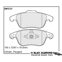 Black Diamond Predator Brake Pads Citroen DS411 Front Set