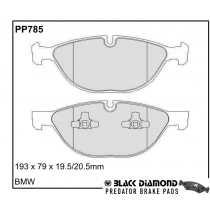 Black Diamond Predator Brake Pads BMW X6 Front Set