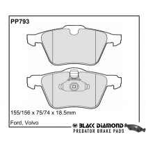 Black Diamond Predator Brake Pads Ford Mondeo Front Set
