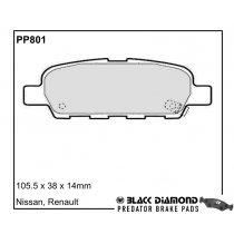 Black Diamond Predator Brake Pads Nissan Juke Rear Set