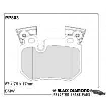 Black Diamond Predator Brake Pads BMW 1 Series (E88)(E82)07 Rear Set
