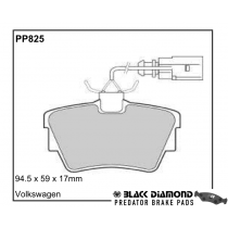 Black Diamond Predator Brake Pads VW Transporter Rear Set