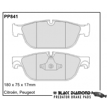 Black Diamond Predator Brake Pads Peugeot RCZ Front Set