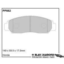Black Diamond Predator Brake Pads Honda FR-V Front Set