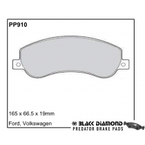 VW Amarok Black Diamond Predator Brake Pads Front Set