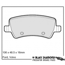 Black Diamond Predator Brake Pads Land Rover Range Rover Evoque Rear Set