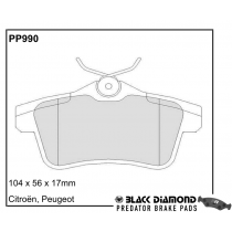 Black Diamond Predator Brake Pads Peugeot RCZ Rear Set