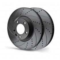 Rotinger Brake Discs Audi A6 Allroad A7 A8 Front Pair Drilled & Grooved