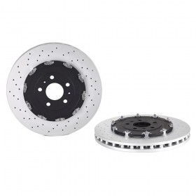 Brembo Drilled Brake Discs Front Pair 09947723 Audi RS4 B7