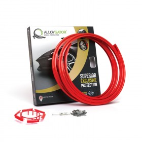 "AlloyGator Exclusive Alloy Wheel Rim Protectors 4 Pack + Free Wheel Cleaner, Choose From 15 Colours: Fits 12"" - 24"" Wheels"