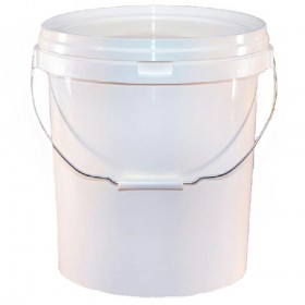 20 Litre White Detailing Bucket Pail With Lid