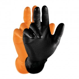 Gripster Skins Gloves Orange/Black (Box of 50)