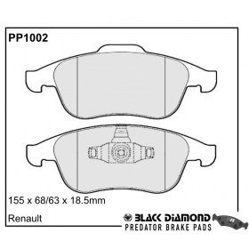 Black Diamond Predator Brake Pads Renault Megane III (08-)08 Front Set
