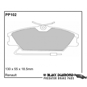 Black Diamond Predator Brake Pads Renault Laguna Front Set