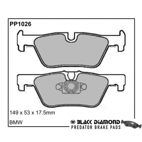 Black Diamond Predator Brake Pads BMW 3 Series (F30/31) Saloon/Estate11 Rear Set