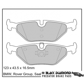 Black Diamond Predator Brake Pads BMW Z3 Rear Set