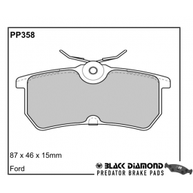 Black Diamond Predator Brake Pads Ford Focus ST (Rear) Fiesta ST (Front) Set