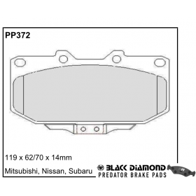 Black Diamond Predator Brake Pads Subaru Impreza Front Set