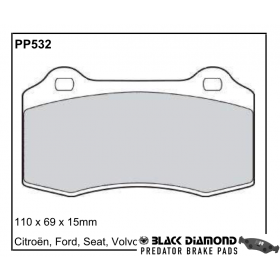 Black Diamond Predator Brake Pads Ford Focus (-05)43222 Front Set