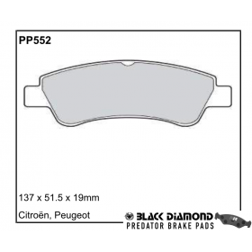 Black Diamond Predator Brake Pads Citroen Berlingo Front Set