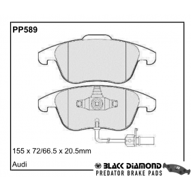 Black Diamond Predator Brake Pads Audi A4 Front Set
