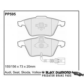 Black Diamond Predator Brake Pads Audi A3 Front Set