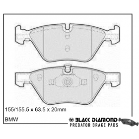 Black Diamond Predator Brake Pads BMW 1 Series Front Set