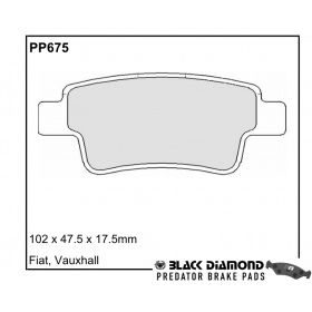 Black Diamond Predator Brake Pads Vauxhall Corsa Rear Set