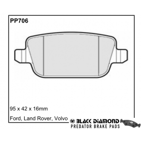 Black Diamond Predator Brake Pads Ford Focus Rear Set