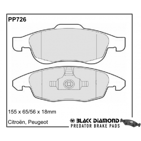 Black Diamond Predator Brake Pads Citroen DS4 Front Set