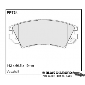Black Diamond Predator Brake Pads Opel Astra GTC Front Set