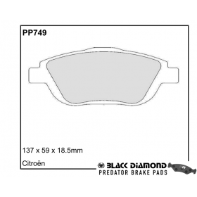 Black Diamond Predator Brake Pads Citroen C3 Picasso Front Set