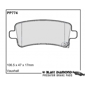 Black Diamond Predator Brake Pads Opel Insignia Rear Set