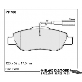 Black Diamond Predator Brake Pads Fiat 500 Front Set